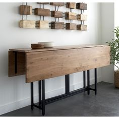 Origami Drop Leaf Table by Crate and Barrel
