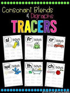 These phonics tracers provide handwriting practice with a focused phonics sound spelling. Students read, trace, and learn! Place the sheets in sheet protectors and create a folder or binder for students to write and erase with! Use them the following ways:phonics instruction read and trace centerhandwriting practicemorning work binder With the high standards in place for spelling, reading, and phonics, we move through teaching the sound spelling patterns too quickly for many of our students.