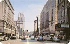 Downtown Akron, Ohio in 1954, one of the years I lived there. Loved catching a bus from North Hill and going to town with friends.
