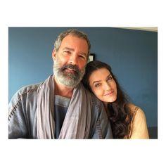 Bastidores - Novela Os Dez Mandamentos Nova Temporada - #FlorianoPeixoto ( Ur ) e @larimaciel ( Miriã ) ...