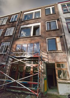 Benedenwoning Beukelsweg: Achtergevel woning na renovatie.