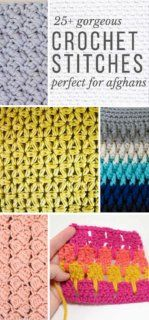 This collection of modern crochet stitches for blankets and afghans is sure to provide inspiration for your next project! Whether youre making a quick baby blanket or a large throw, these crochet stitch tutorials have you covered. - The Crocheting Place Crochet Stitches For Blankets, Crochet For Beginners Blanket, Crochet Stitches Patterns, Knitting Patterns, Crochet Afghans, Free Knitting, Baby Afghans, Crotchet Stitches, Knitting Needles