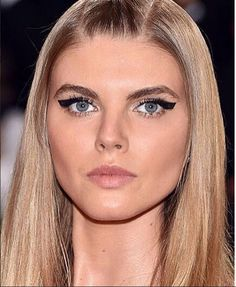 """Check out this fierce winged liner look on @marynalinchuk1 at the #metball #metgala for #topshop! """"I used the """"Soft Touch"""" Individuals in short throughout the whole lash line as a base, then in medium sporadically then long on the outer edge and middle of the eye...topping it off with medium single haired"""