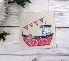 Fishing Boat Coaster, Nautical Gift £6.00