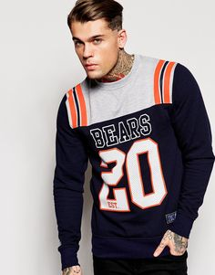 Majestic+Chicago+Bears+Crew+Sweatshirt