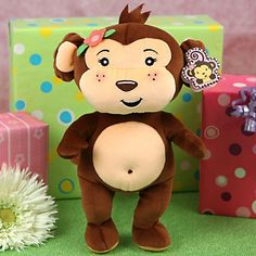 "Big Monkey Girl Rattle ""COCOA-ETTE"" - 13"" Tall - Baby Gift Big Monkey Girl Rattle ""COCOA-ETTE"" - 13"" Tall - Baby Gift - #BigDot #HappyDot #Monkeybabyshower #babygift #Monkey"
