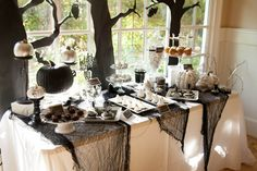 Spooky and Elegant Forrest Halloween Party - Pretty My Party