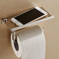 Toilet Paper Holder Phone Holder SUS 304 Stainless Steel,Contemporary Chrome Wall Mounted 4960365 2016 – $14.44