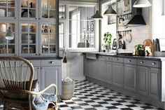 IKEA Lidingo style kitchen cabinets Style Selector: Finding the Best IKEA Kitchen Cabinet Doors for Your Style Ikea Kitchen Cabinets, Grey Cabinets, Kitchen Cabinet Doors, Kitchen Flooring, Glass Cabinets, China Cabinet, Clean Cabinets, Dish Cabinet, Corner Cabinets