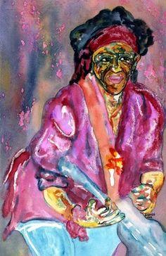 """Artist CARMEN LUNA; Painting, """"12- ARTE de Coleccion.Keit Richars"""" http://www.carmen-luna.com"""