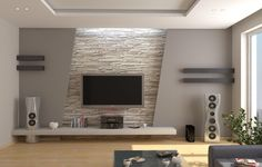 Stone wall and decoration living room tv wall decor, modern tv wall, Wall Unit Designs, Tv Unit Design, Tv Wall Design, Ceiling Design, House Design, Tv Cabinet Design, Modern Tv Cabinet, Modern Tv Wall Units, Modern Cabinets