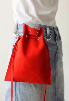 Leather Crossbody Bag Crossbody Leather Purse Leather Bucket