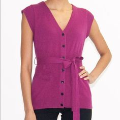 Robert Rodriguez Purple Cashmere Vest/Top Robert Rodriguez Purple Cashmere Vest. Impeccable condition. Robert Rodriguez Tops Button Down Shirts