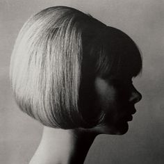 Jean Shrimpton by Horst P Horst in black and white...stunning photograph, iconic hair