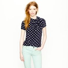 The Tie-Neck Top in Dot! #NewArrivals