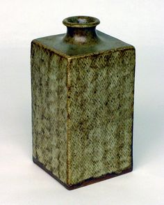 Object of the day - #Vase: By Shimaoka Tatsuzo (1919-2007). A common characteristic of the work of the artist are cord-marked surfaces. Shimaoka adopted cord-marking (Jōmon) from the pottery of Japan's #Jomon Period (c. 10000-c.300 BCE),  but the technique probably has personal significance for Shimaoka. His father was an artisan who made braided silk cords for use with #Japanese clothing. Shimaoka uses braids his father made for him wrapped around wood dowels. #ceramic #art #morikami