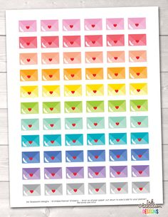 Happy Mail Printable Planner Stickers – Instant Download PDF for your Erin Condren Life Planner