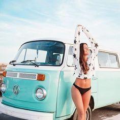 Volkswagen Transporter, Vw Bus T2, Volkswagen Minibus, Vw T1, Combi Vw T2, Combi Ww, Trucks And Girls, Car Girls, Vespa