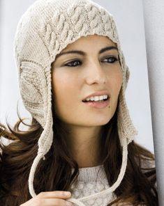Вязание спицами шапки с ушками — Снежная Королева | Вязание Шапок - Модные и Новые Модели