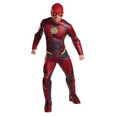 JL Deluxe The Flash Adult Costume Tap into the Speed Force with this Justice League Deluxe The Flash Costume for men. Now you can move at superhuman speeds. Join the Justice League along with Batman and Wonder Woman and help save the day. Superhero Halloween Costumes, Halloween Kostüm, Adult Costumes, Cosplay Costumes, Female Costumes, Marvel Costumes, Movie Costumes, Couple Halloween, Superhero Fancy Dress