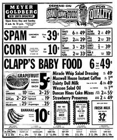 Lorain, OH local grocery store ad from 1958  (Thanks to Dan Brady for having such a wonderful blog about my old hometown)