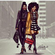Fashion Drawings by Peneil Enchill fashion bomb daily african american fashion sketches Black Girl Art, Black Women Art, Black Girl Magic, Art Girl, Black Girls, Black Child, Black Lady, Black Queen, African American Fashion