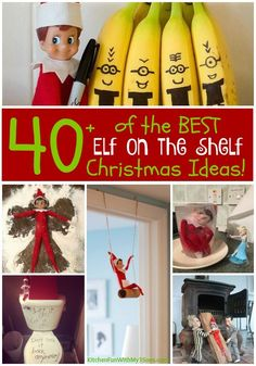 Over 40 of the BEST Elf on the Shelf ideas! Such a fun Christmas tradition that the kids just and these ideas are so fun and cute!