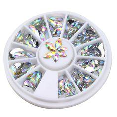 새로운 패션 3D 크리스탈 말 눈 보석 반짝이는 모조 다이아몬드 DIY 네일 아트 팁 장식 매니큐어 휠 WY161-WY349