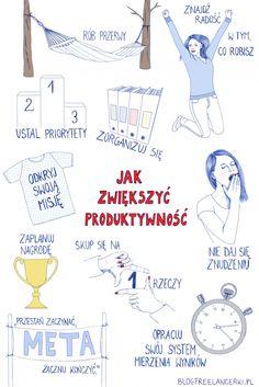 10 sposobów na zwiększenie produktywności – infografika #produktywność #infografika