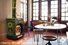 Liberty , Wood Burning Stoves by Sergio Leoni Stove Fireplace, Wood Burning, Two By Two, Sweet Home, Liberty, Warm, Traditional, The Originals, Table