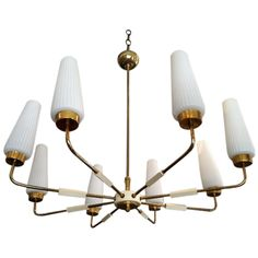 "Collection - Italian 8-arm Brass Chandelier / $3550 (budget=3200) / 24""h x 28"" dia"