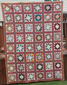Antique 1800's Star Pattern Quilt Civil War Era | eBay