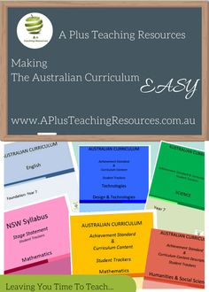 A range of Australian Curriculum Curriculum Organisers, Checklists & Trackers for F to Y 6 - for english, maths, science, history, geography, technologies... and more! Make the Curriculum EASY!