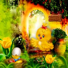 Happy Easter by kittyscrap ©InadigitalArt2018  http://scrapfromfrance.fr/shop/index.php…
