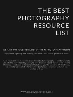 Photography Tips: The #1 list of photography resources that people don't like…