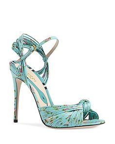 Gucci Allie Knotted High Heel Sandals