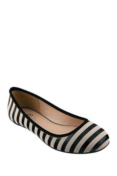 GC Shoes Cherish Striped Ballet Flat