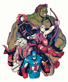 Avengers! I think this would make a great tattoo.
