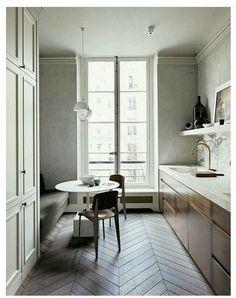 Nice Parisian Apartment, Paris Apartments, Parisian Bedroom, Parisian Decor,  Apartment Kitchen, Apartment Ideas, Modern French Interiors, French  Kitchens, ...