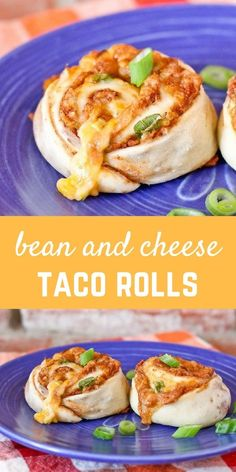 These bean and cheese taco rolls are the perfect lunchtime treat -- imagine a cinnamon roll except take out the cinnamon and add lots of great southwestern flavor! Get the easy recipe on RachelCooks.com via @rachelcooksblog