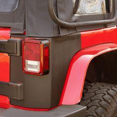 Rear Corner Kit, Body Armor, 2 Door; 07-16 Jeep Wrangler JK