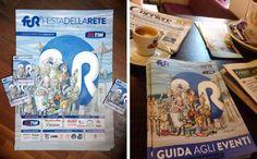 Manifesto, programma, cartellina della Festa della Rete 2015: il mio disegno sta bene su tutto, come certe giacche ;) #disegniGrassilli #FDR15