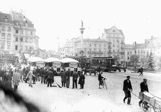 Plac Zamkowy, 1928 r. Poland, The Past, Castle, Louvre, Street View, Photographs, Photos, City, Building