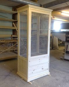 look for nightstand at thrift stores! My Sheldy would love this and it is so. look for nightstand at thrift stores! My Sheldy would love this and it is so much prettier than the cage she is Chameleon Enclosure, Reptile Enclosure, Diy Bird Cage, Bird Cages, Finch Cage, Bird House Kits, Bird Aviary, Parrot Toys, Pet Cage