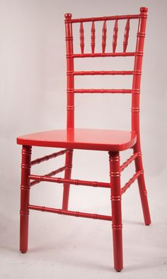 Custom Red Chiavari Chair frame by Vision Furniture.