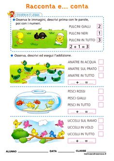 matematica geometria cl1 - La maestra Enza didattica e disegni Classroom Activities, Activities For Kids, Learning Italian, Math For Kids, Word Problems, Math Worksheets, Homeschool, Coding, Alice