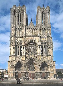 Reims gothic Cathedral - France