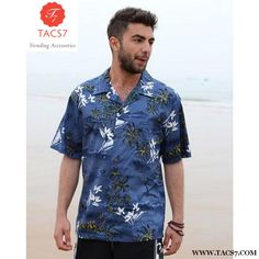 a26ef4206417 Summer Style Men Shirt Cotton Hawaiian Beach Large Size Short-Sleeved  Clothing Fancy Dress Shirts