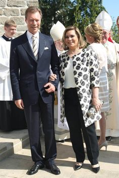 Grand Ducal Family of Luxembourg attend the first communion of the Prince of Luxembourg Noah, the son of Prince Louis