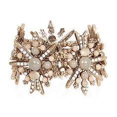 Light brown gemstone stretch bracelet $30.00 riverisland